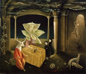 And then we saw the daughter of the Minotaur Leonora Carrington
