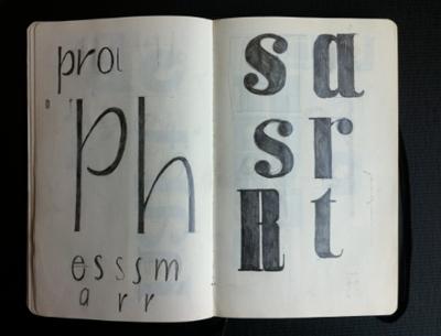 Tim typeface design
