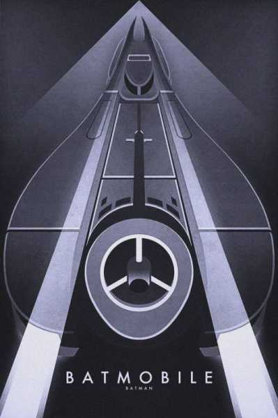 Ron Guyatt art deco batmobile