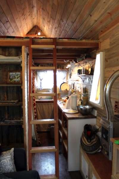 interior of tiny home