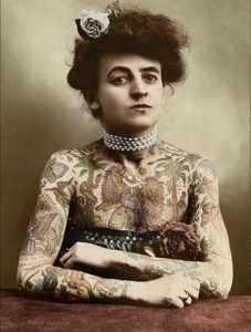 Tattooed Victorian Woman