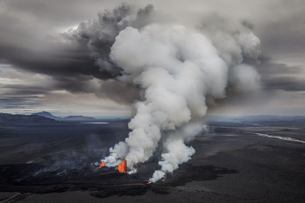 Iceland volcano eruption nordic photography
