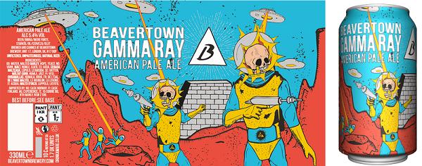 gamma ray beer label design