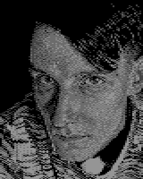 pixelated self portrait
