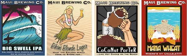 maui beer label designs