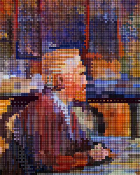 Vin gogh pixel art
