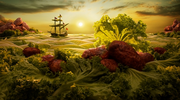 Food landscape photography by Carl Warner