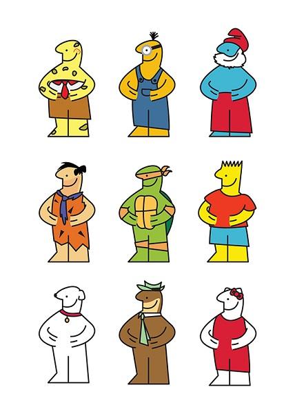 poster design of popular culture figures
