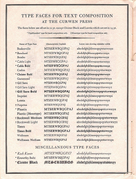 list of typography use rules