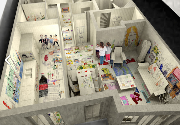interior structure design for children's play area