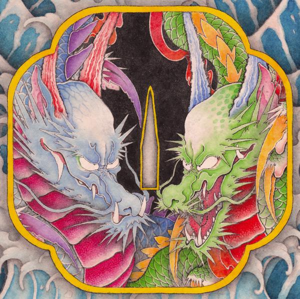 illustrated dragon by Koda Nakatsubo