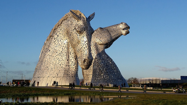 kelpies sculpture in scotland's central belt