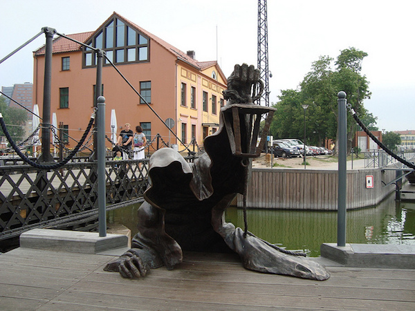 lithuania's black ghost sculpture