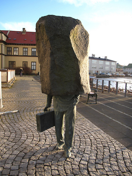 the unknown bureaucrat sculpture iceland
