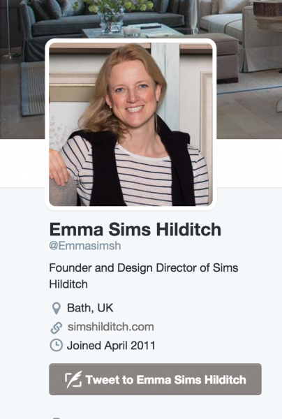 emma sims hilditch interior inspiration twitter feed