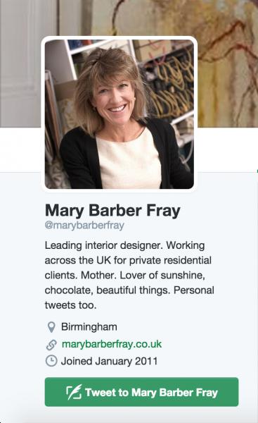 image of top uk interior design twitter homepage