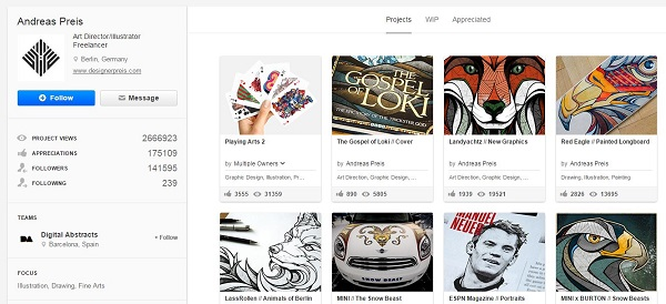 Andreas Preis Behance profile