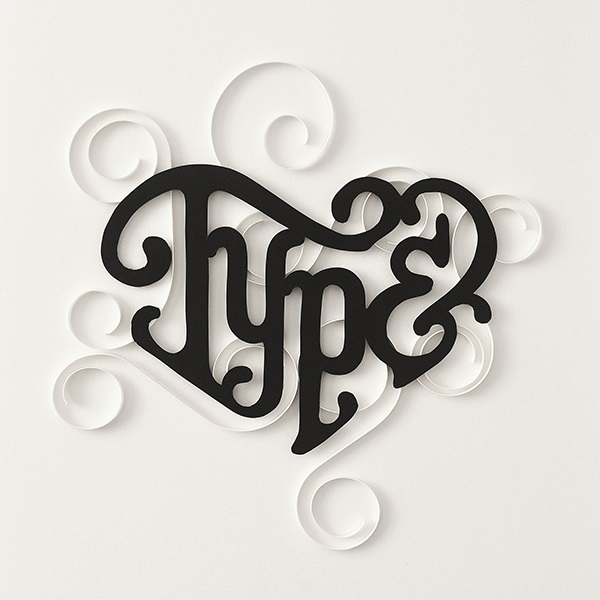 typeface design love heart