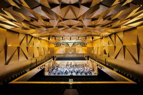 interior architecture photography of concert hall