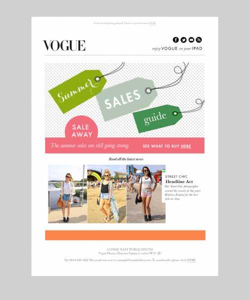 Graphic design for vogue summer sale