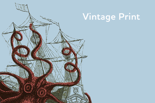 9. Vintage Print (illustration trends)