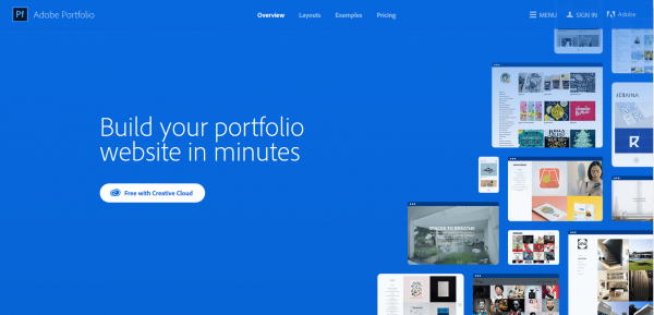 image of Adobe Portfolio website [5 Best Portfolio Websites for Promoting your Work]