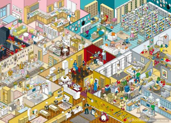 "Pixel art created by Rod Hunt for IKEA Russia's ""Apartmentology"" campaign"