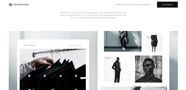 Image of the sleek user interface on Squarespace [5 Best Portfolio Websites for Promoting your Work]
