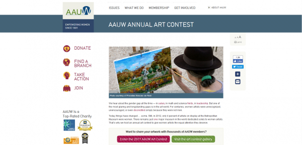 AAUW Annual Art Contest