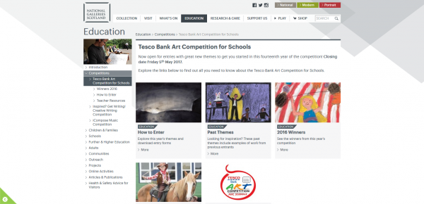 Tesco Bank Art Competition for Schools