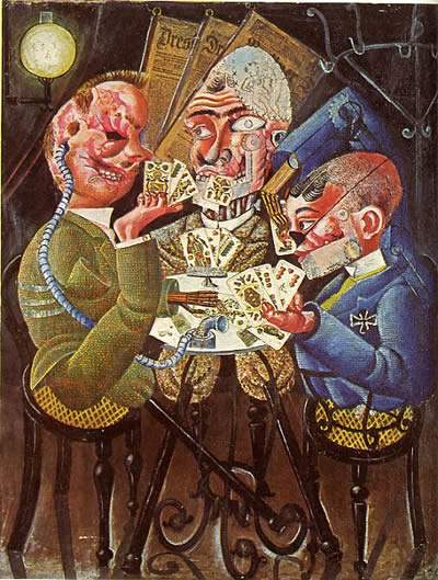 """Otto Dix, """"Invalids of War Playing Cards"""" 1920"""