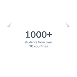 1000+ students from over 70 countries
